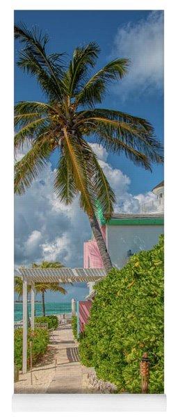 Palm On Pearl Island Yoga Mat