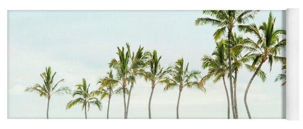 Palm Tree Horizon In Color Yoga Mat