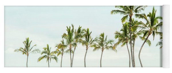 Palm Tree Horizon In Color Yoga Mat