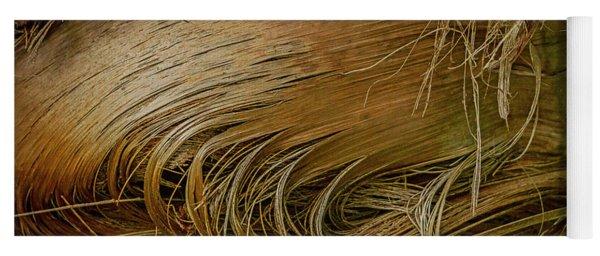 Palm Tree Straw Yoga Mat