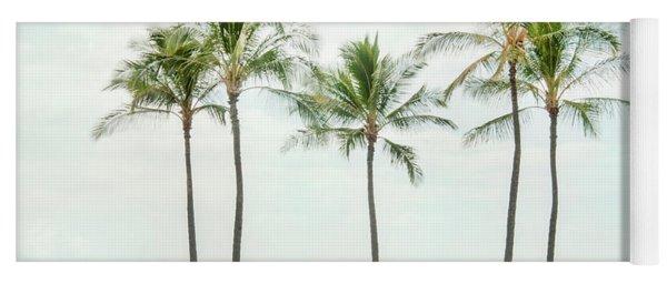 Palm Trees On The Beach Yoga Mat