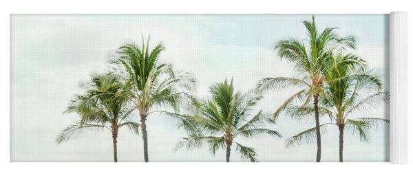 Palm Trees On The Beach Yoga Mat