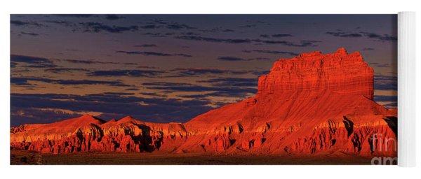 Panorama Dawn Light On Wild Horse Butte Goblin Valley Utah Yoga Mat