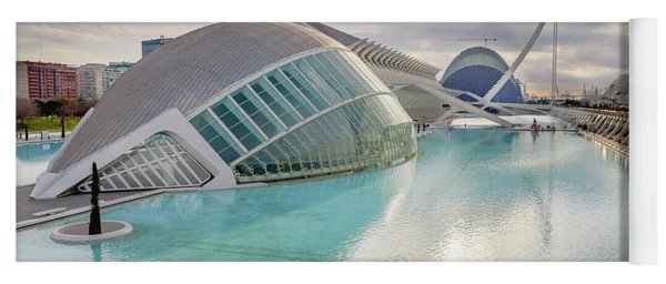 Panoramic Cinema In The City Of Sciences Of Valencia, Spain, Vis Yoga Mat
