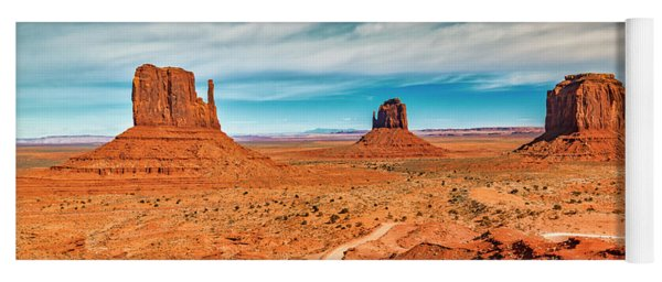 Yoga Mat featuring the photograph Panoramic Monument Valley by Andy Crawford
