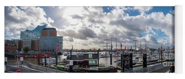Panoramic View Of Hamburg Yoga Mat