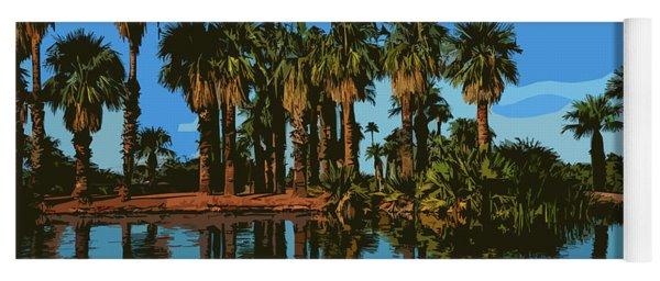 Papago Park Palms Yoga Mat