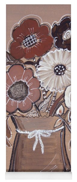 Yoga Mat featuring the painting Paper Bag Bouquet by Robin Maria Pedrero