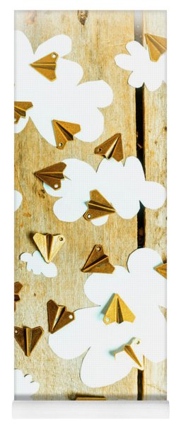 Paper Clouds And Metal Planes Yoga Mat
