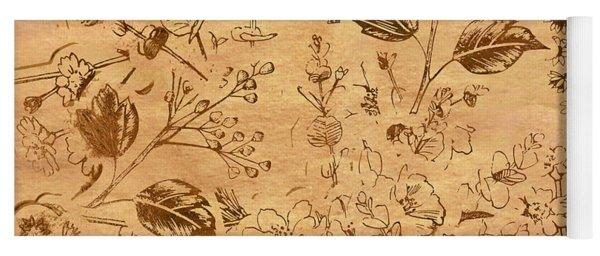 Paper Petal Patterns Yoga Mat