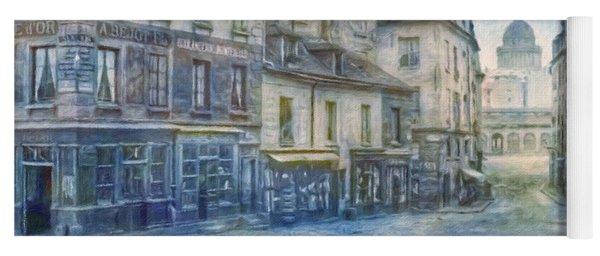 Paris, Rue Du Haut Pave 1866 Yoga Mat