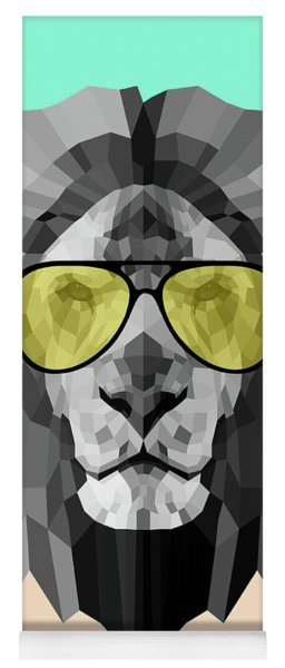 Party Lion In Glasses Yoga Mat