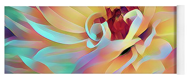 Party Time Dahlia Abstract Yoga Mat