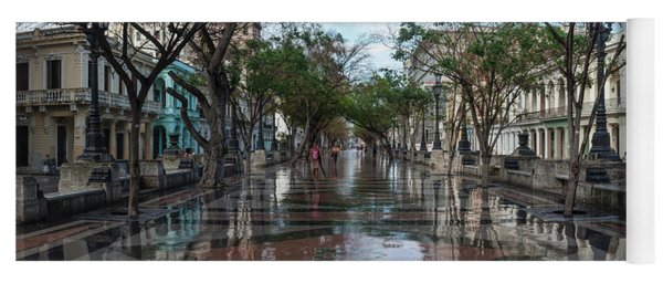 Paseo Del Prado After A Rain, Havana Yoga Mat