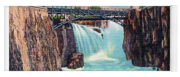 Passaic Falls And Chasm Bridge Paterson N J  Yoga Mat