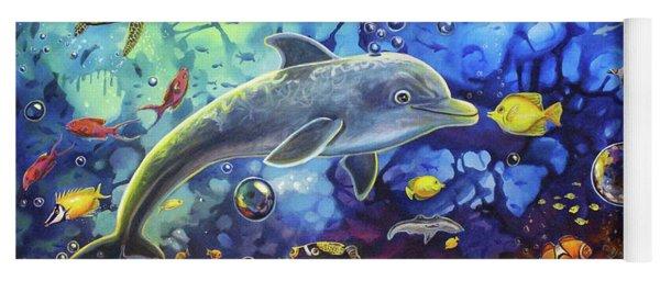Past Memories New Beginnings Dolphin Reef Yoga Mat