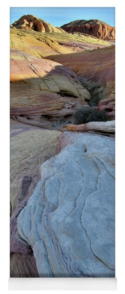 Pastel Canyon In Valley Of Fire State Park Yoga Mat