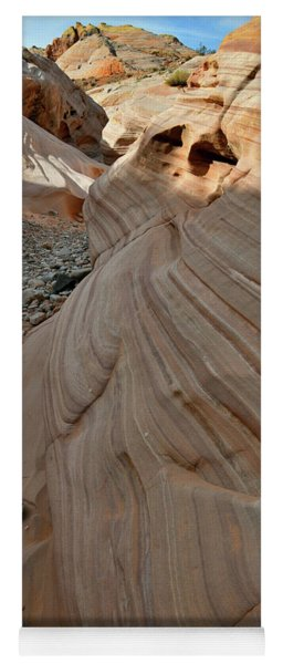 Pastel Canyon Sandstone Waves In Valley Of Fire Yoga Mat