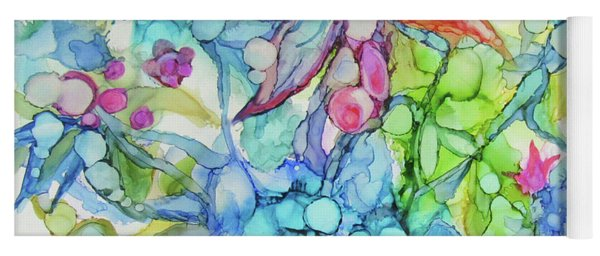 Pastel Flowers - Alcohol Ink Yoga Mat