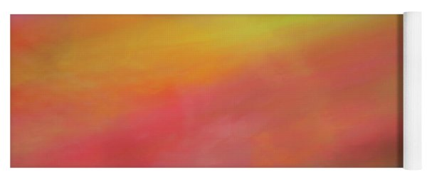 Pastel Soft Blurred Line Background Of Pinks, Oranges, Yellows And Greens Yoga Mat