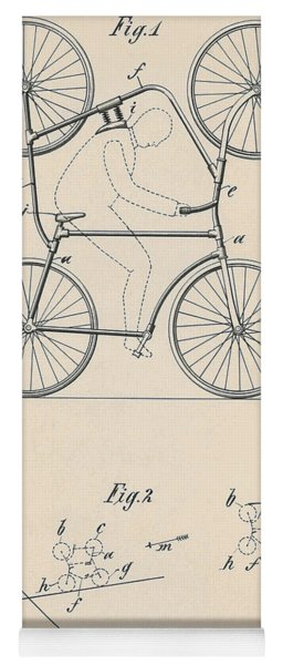 Patent Drawing Double Bicycle For Looping The Loop, 1905 Yoga Mat