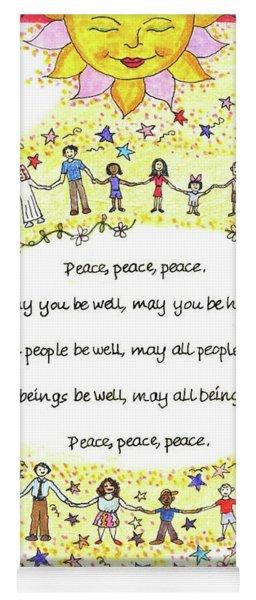 Peace, Peace, Peace Yoga Mat