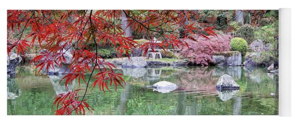 Peaceful Fall Pond  Yoga Mat