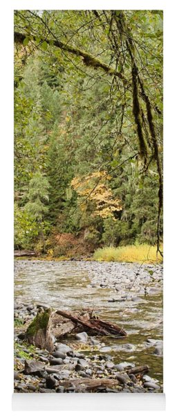Peaceful Molalla River Yoga Mat