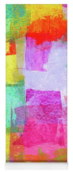 Peaceful Windows 3 Abstract Painting Yoga Mat