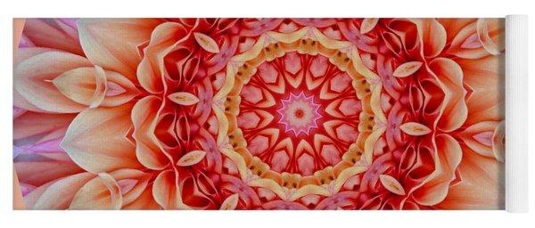 Peach Floral Mandala Yoga Mat
