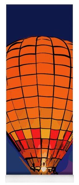 Peach Hot Air Balloon Night Glow In Abstract Yoga Mat