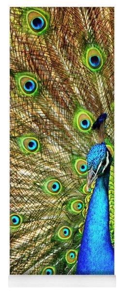 Peacock Colors Yoga Mat