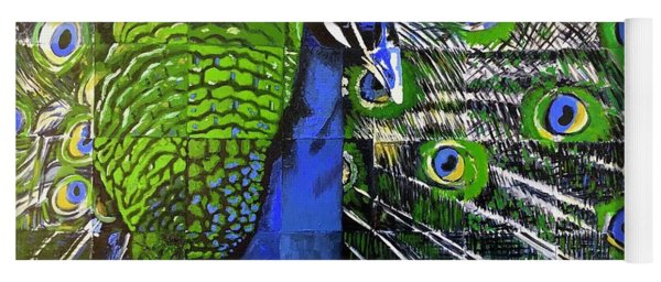 Yoga Mat featuring the painting Peacock by Dustin Miller