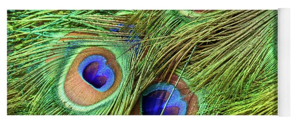 Peacock Feathers Yoga Mat