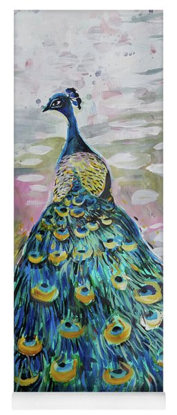 Peacock In Dappled Light Yoga Mat