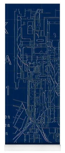 Pek Beijing Capital Airport Blueprint Yoga Mat