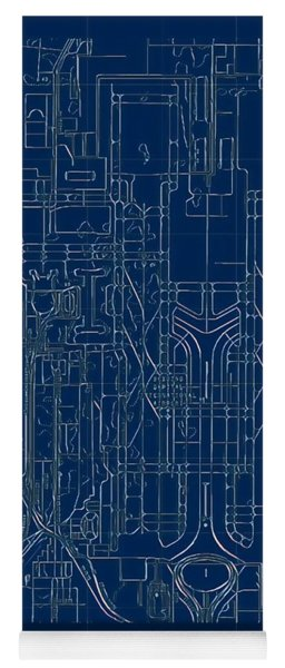 Pek Beijing Capital Airport Blueprint Yoga Mat