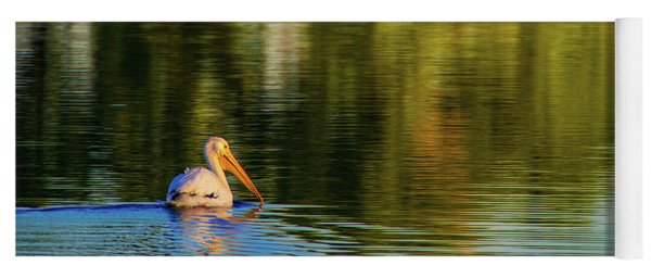 Yoga Mat featuring the photograph Pelican In Sunlight by John De Bord