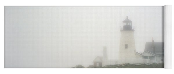 Pemaquid Point Lighthouse In The Fog Yoga Mat
