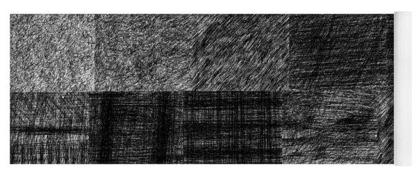 Pencil Scribble Texture 1 Yoga Mat
