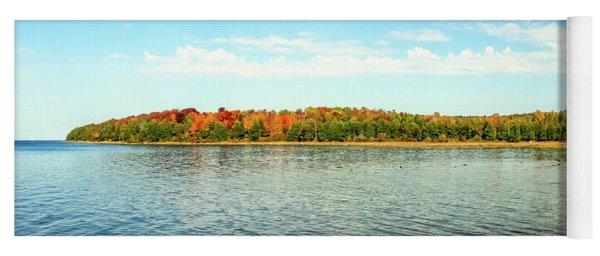 Peninsula Shore In Fall Yoga Mat