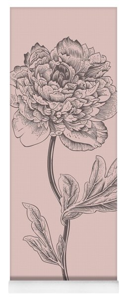 Peony Blush Pink Flower Yoga Mat