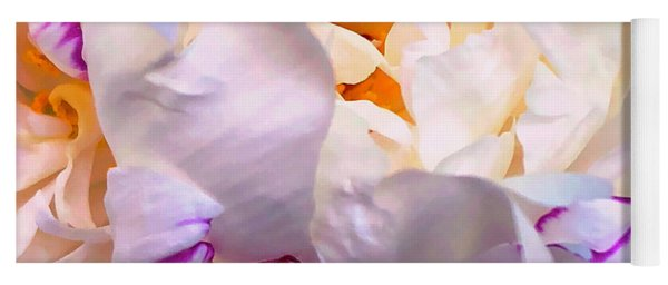Yoga Mat featuring the digital art Peony Love 1 by Cindy Greenstein