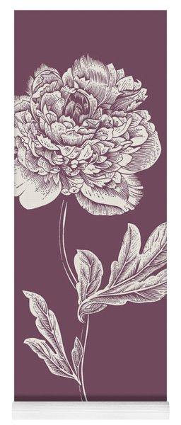 Peony Purple Flower Yoga Mat