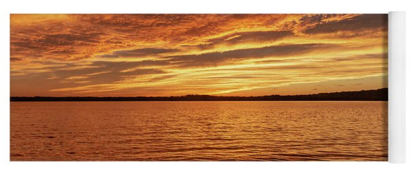 Percy Priest Lake Sunset Yoga Mat