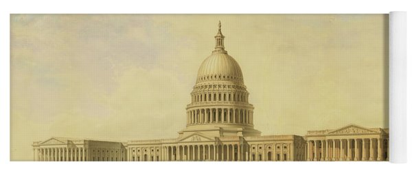 Perspective Rendering Of United States Capitol Yoga Mat