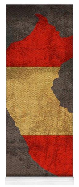 Peru Country Flag Map Yoga Mat