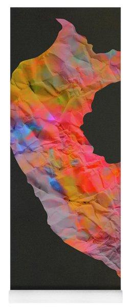 Peru Tie Dye Country Map Yoga Mat