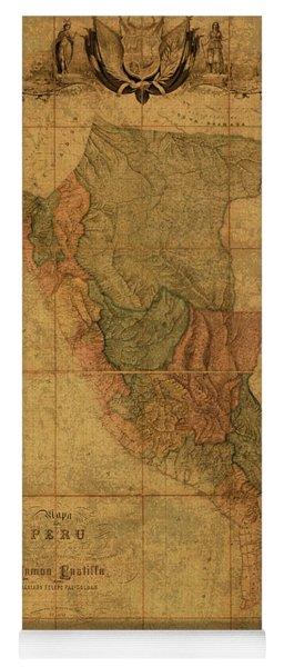 Peru Vintage Map 1862 Yoga Mat