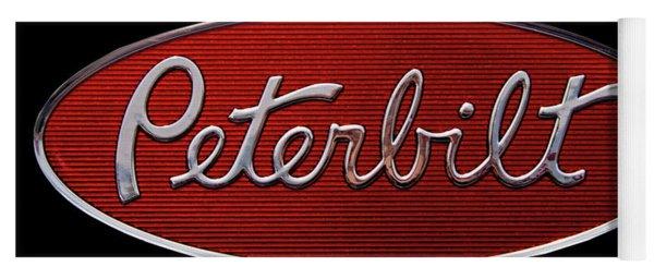 Peterbilt Emblem Black Yoga Mat